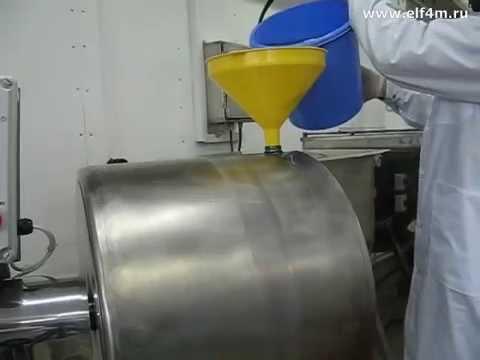 Видео: Тележка технологическая (чан посолочный) ИПКС-117Ч-200(Н). Массажер мяса вакуумный ИПКС-107-100(Н) на коптильном производстве.