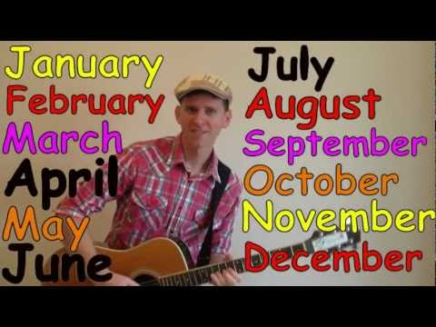 months of the year dreamenglish