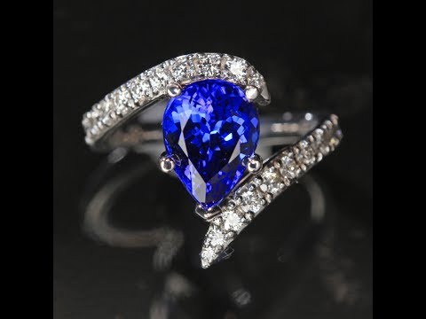 Tanzanite Ring Exceptional Pear Shape 3.85 Carats