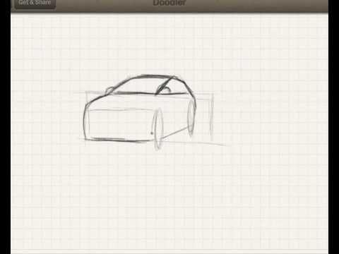 How to draw a car / Tutorial part 2 (easy) / Autozeichnung (www.autozeichner.com)