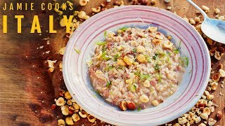 Jamie Cooks Italy | Sausage Risotto, Bacon & Onion Dumplings and Ham & Pea Pasta by Jamie Oliver