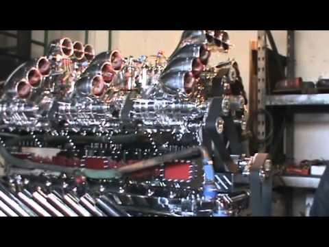 Mike Harrah and His Detroit V24 - 71 Diesel Engine 3424 Horse Power