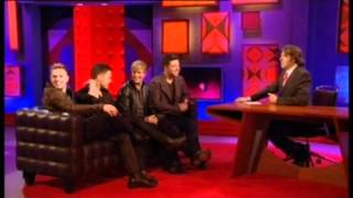 Nicky Byrne with Westlife on Johnathon Ross- Notch on belt comment