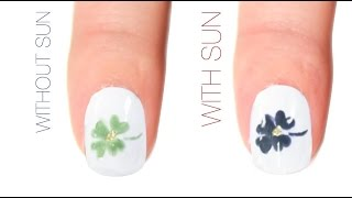 Shamrock Color-Changing Nail Art Design