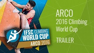 Upcoming LiveStream Trailer - IFSC Climbing World Cup Arco 2016 - Lead & Speed by International Federation of Sport Climbing