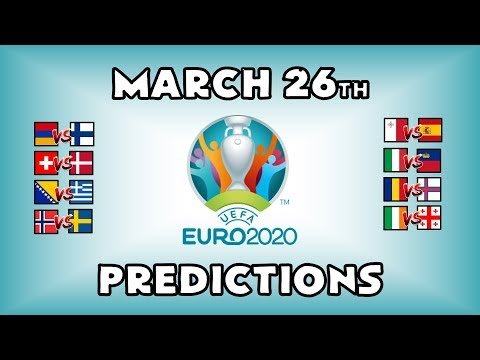 EURO 2020 QUALIFYING MATCHDAY 2 - PART 3 - PREDICTIONS