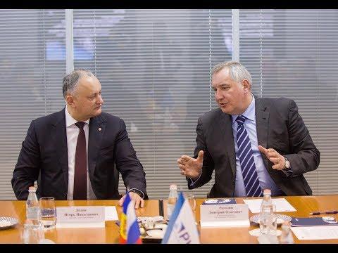 Igor Dodon a avut o întrevedere de lucru cu Dmitrii Rogozin