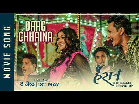"(New Nepali Movie - ""Hairaan"" Song    Daag Chhaina Junma Aaba    Yubraj, Indira Joshi Ft. Gajit Bista - Duration: 3 minutes, 33 seconds.)"