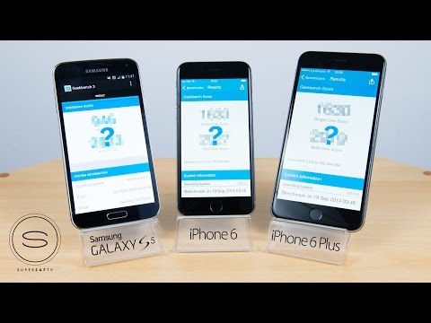 samsung - A benchmark test between the Apple iPhone 6 vs Samsung Galaxy S5 vs Apple iPhone 6 Plus using GeekBench 3. Full hands-on reviews, camera comparisons and speed tests coming soon! The iPhone...