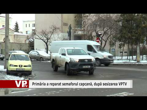 Primăria a reparat semaforul capcană, după sesizarea VPTV