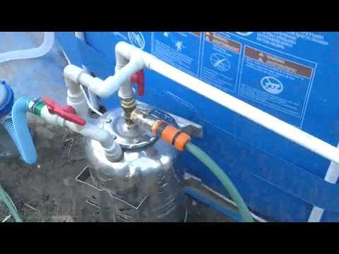 Фильтры для бассейнов своими руками видео