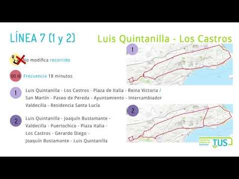 Nueva red de transporte TUS Santander
