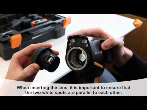 testo 875i - Step 12 - How to Chang the lens