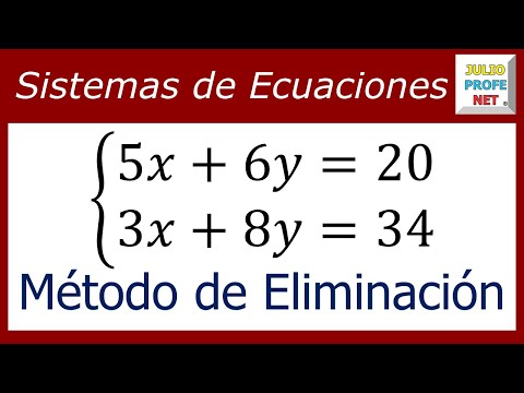Solución de un Sistema de 2 x 2 por el Método de eliminación (Suma y Resta)