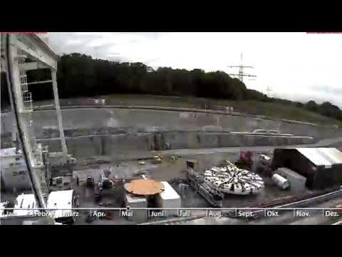 Stuttgart 21: Filderportal (Aufbau der Tunnelbohrmaschine), Zeitrafferfilme 2014