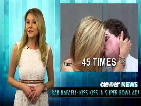 Super Bowl 2013 - Go Daddy Bar Refaeli Kiss Commercial - FULL