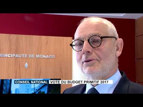 H.E. Mr. Serge Telle announces the vote on the 2017 preliminary budget