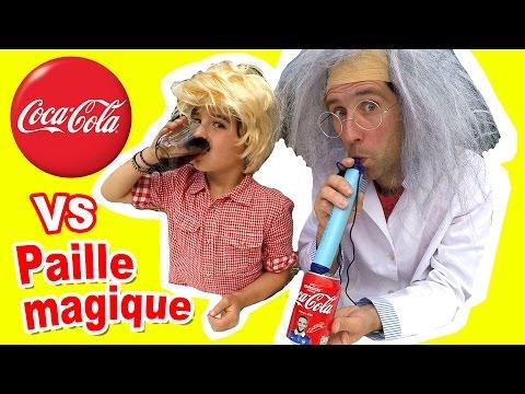 COCA VS PAILLE MAGIQUE - Que se passe-t-il pour le goût, la couleur & les bulles ? Docteur Bidouille