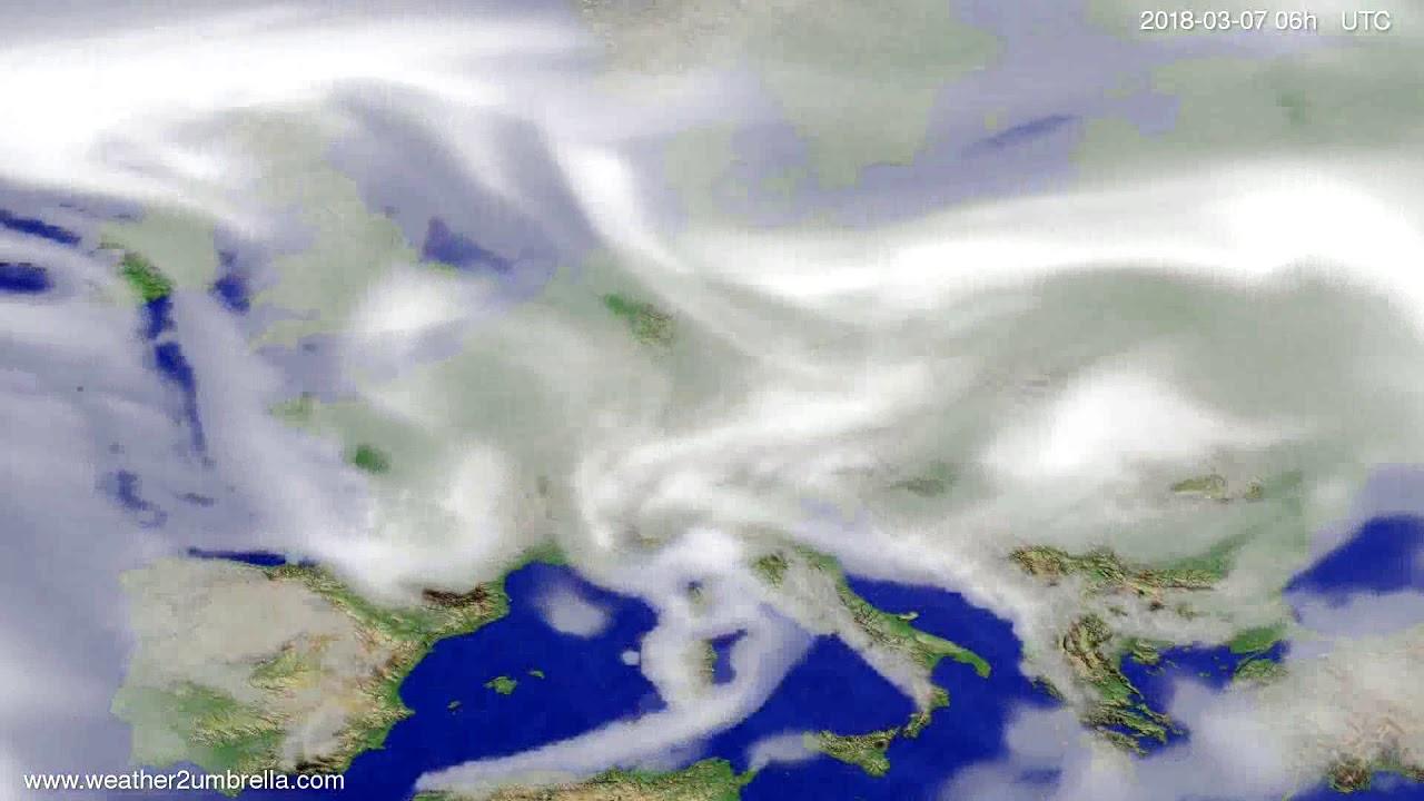Cloud forecast Europe 2018-03-03