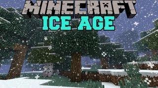 Minecraft : ICE AGE MOD (HARDER SURVIVAL, FREEZE TO DEATH!) FrostCraft Mod Showcase