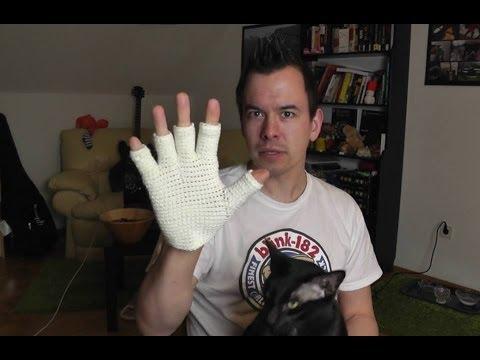 Fingerlose Handschuhe häkeln lernen für Linkshänder