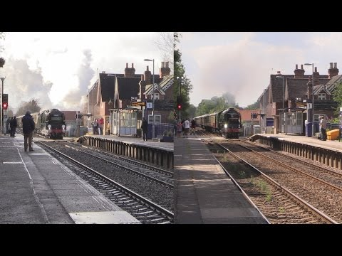 Clan Line vs Tornado on the British Pullman