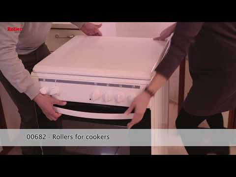 White Square Appliance Wheel Rollers & Trolley