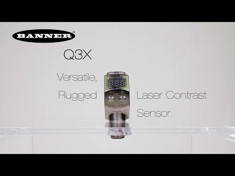 Q3X Versatile, Rugged Laser Contrast Sensor