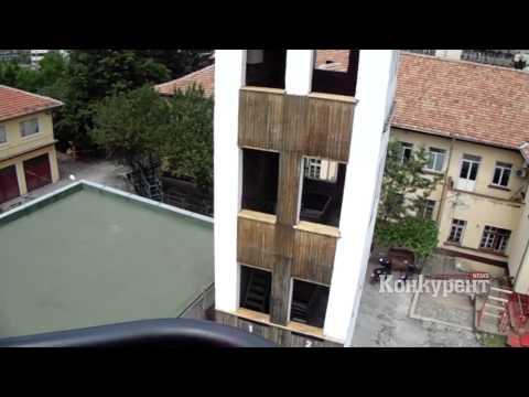Поглед от 30-метровата стълба на пожарната във Враца