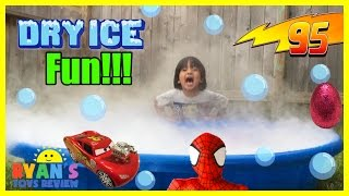 Easy science experiment for kids Dry Ice