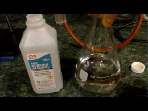 Distilling Ethanol from Ethyl Rubbing Alcohol