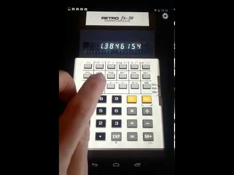 Video of 3D Calculator RetroFX