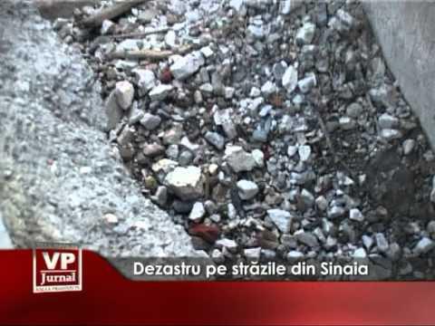 Dezastru pe străzile din Sinaia