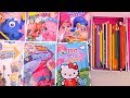 Learn Colors Coloring Trolls, Hello Kitty, Shimmer & Shine, Shopkins, Finding Dory, and Minions