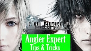 Subscribe!!!  http://bit.ly/KwijGamingSubHi everyone! Welcome t Kwij Gaming's continued walkthrough of Final Fantasy XV. Today, we're taking a bit of a detour in order to achieve the Angling Expert Achievement, as well as fishing for two hard-to-catch fish in a Tour sidequest and one of Narvyth's Sidequests. This video will show you some tips and tricks for fishing in Final Fantasy XV. The tips and tricks in this video are meant to help you farm your way to an easy Angling Expert Achievement, which you'll need in order to catch the most difficult fish in the game. Also in this video, I'll be catching the Vesper Gar (Narvyth's Challenge) as well as the Liege of the Lake (Tour). The Liege of the Lake is the reason why I made this video, because if you've been following my Final Fantasy Walkthrough videos so far, I started the Tour sidequest in the last video, but never completed it because my Fishing Skill level was too low. This video will help me catch up in order to catch the 2nd and 3rd most difficult fish to catch in the game. Thanks so much for watching this video, and I hope it helped you on your way to catching these fish. For more videos, be sure to like, comment, and subscribe to Kwij Gaming. Fun links below:Final Fantasy XV: http://bit.ly/FFXVWalkthroughAttack on Titan: http://bit.ly/AttackOnTitanKwijReCore: http://bit.ly/ReCoreWalkthroughUncharted 4: http://bit.ly/U4CrushingKwijGamingUncharted 4 Trophy Guide: http://bit.ly/U4TGKwijGamingSuper Mario 3D World: http://bit.ly/SM3DWKwijGamingMario Kart 8 Wii U: http://bit.ly/MarioKart8KwijGamingHarvey Birdman: http://bit.ly/BirdmanKwijGaming