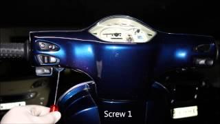 6. Vespa LX 125 change clock battery