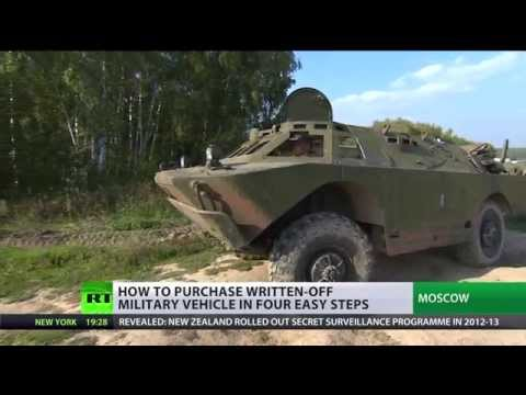 buy - Owning an armored personnel carrier may not be on everyone's bucket list, but for one Russian man it was a must have. RT's Madina Kochenova tracks his big buy RT LIVE http://rt.com/on-air...