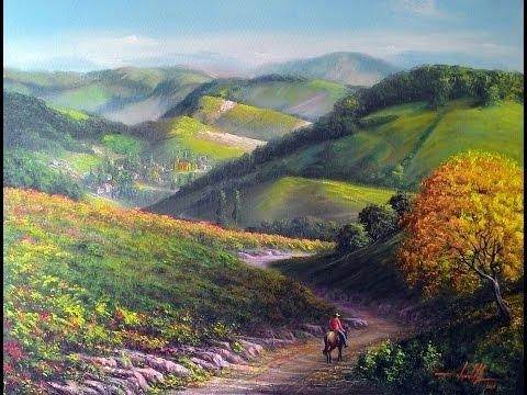 Pintura de Paisagem em Óleo sobre Tela