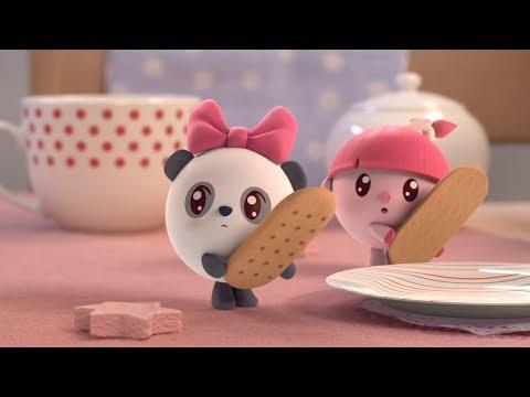 Малышарики - Раскраска для детей - Печенье
