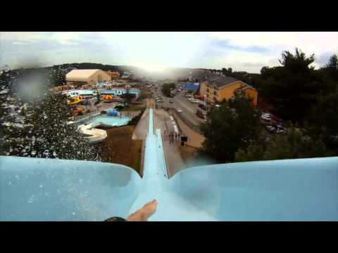 Top 10 Waterslides all with POV's at Mt Olympus Waterpark, Wisconsin Dells, WI