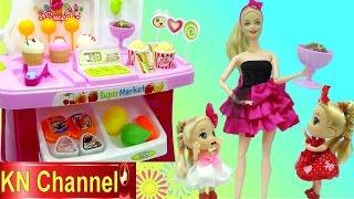 KN Channel và bé Na có đồ chơi trẻ em SIÊU THỊ BÚP BÊ BARBIE gồm có bánh kẹo, kem ice cream rất ngon. ☆Hãy đăng ký...