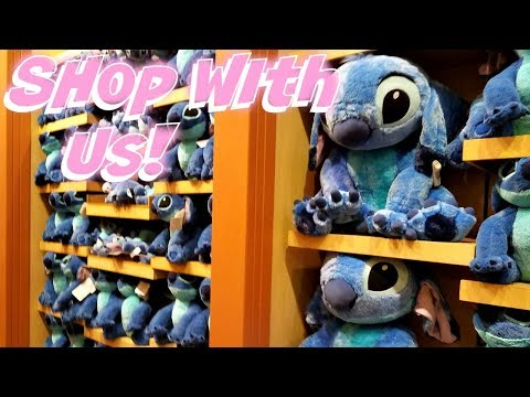Shop WIth Me - World Of Disney Plushies Toy Hunt DownTown Disney 2017
