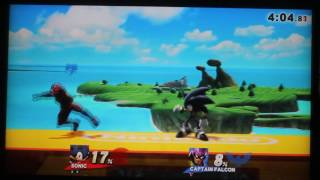 As the vlog video that was meant to go up tonight got deleted by accident, Sam will be re-recording it tomorrow. For now, you can watch a replay match of Sam playing SSB4 on the Wii U against a Captain Falcon.