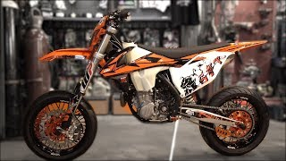 Video KTM 450 2018 Supermoto project MP3, 3GP, MP4, WEBM, AVI, FLV Maret 2019