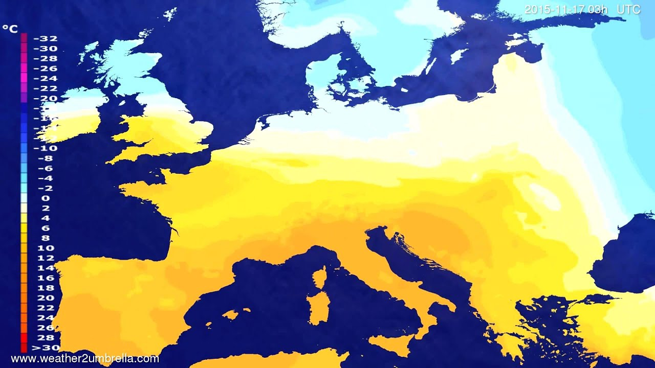Temperature forecast Europe 2015-11-14