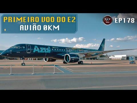 Fizemos o PRIMEIRO VOO do mundo do Embraer E195 E2