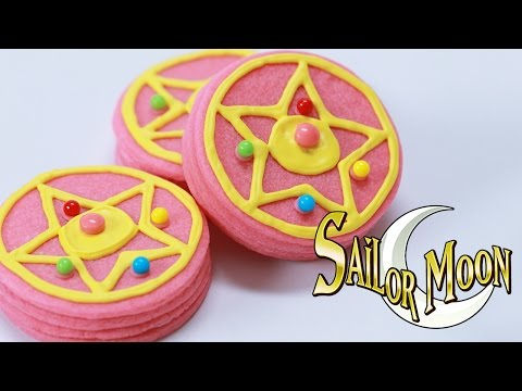 moon - Today I made Sailor Moon Transformation Brooch Pinata Cookies! I really enjoy making nerdy themed goodies and decorating them. I'm not a pro, but I love baking as a hobby. Please let me know...