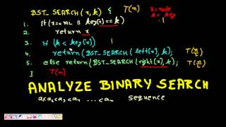 Programming Interview: Running Time Complexity Analysis (Binary Search Tree)