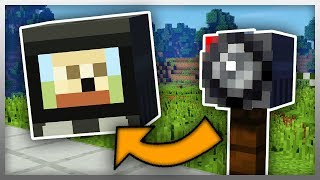 •️ How to Create SECURITY CAMERAS in Minecraft! (No Mods)