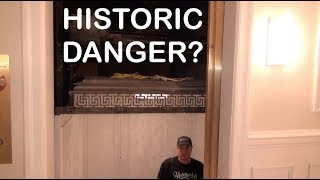 Amazing but Dangerous 1926 OTIS Hand Operated Elevator with door removed (a REAL death trap!)